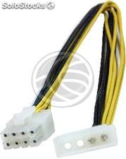 Molex Power Cable 4P-m (5.25) to 8P-h (piv-Xeon EPS12V) (CA30)