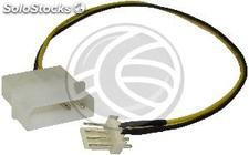 Molex Power Cable 4P-m > pwm 4P-m (20cm) (ML67)