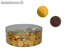 Monedas de chocolate peq. Oro (300 Unds.)
