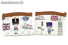 Monedero British Style en 6 diseños de Londres, Paris y New York