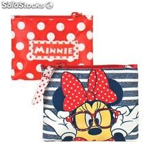 Monedero Cremallera Jeans Minnie Mouse