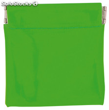 Monedero pvc clippy verde fluor