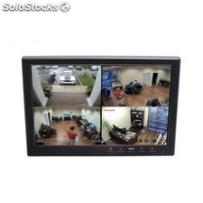 "Monitor cctv 10.1"" tft 1.280x800 mp4 12V, bnc hdmi"