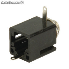 Mono Connector 6.35 Mm Female Pvc Black