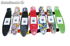 Monopatin skateboard patinete tipo penny skate colores