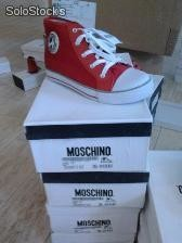 Moschino kids shoes.