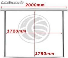 Motorized projection screen 1:1 1720x1780mm white wall DisplayMATIC (OW22)