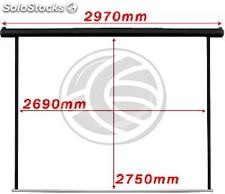 Motorized projection screen 1:1 2690x2750mm black wall DisplayMATIC (OT26)