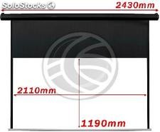 Motorized Projection Screen 2110x1190mm black wall of 16:9 DisplayMATIC (OW52)