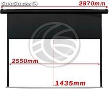 Motorized Projection Screen 2550x1435mm black wall of 16:9 DisplayMATIC (OW53)