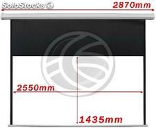 Motorized Projection Screen 2550x1435mm white wall DisplayMATIC 16:9 (OW63-0002)