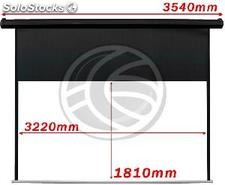 Motorized Projection Screen 3220x1810mm black wall of 16:9 DisplayMATIC (OW55)