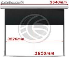 Motorized Projection Screen 3220x1810mm white wall DisplayMATIC 16:9 (OW65)