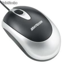 Mouse Optico Multilaser Preto Prata