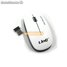 mouse ottico usb wireless bianco scroll ultraslim