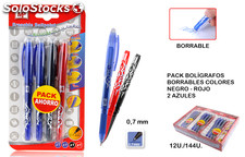 Mp boligrafo borrable pack ahorro 4 uds