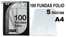 Mp set de 100 fundas folio 5 micras multitaladro, PC002C