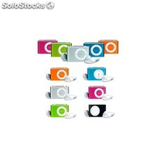 Mp3 player clip con auriculares y cable usb en caja (colores surtidos)