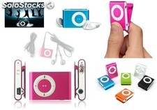 Mp3 player con clip+auriculares+cable USB en caja de regalo