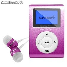"MP3 Sunstech dedaloiii 4 GB 1.1"" Rosa"