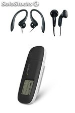 Mp3 sunstech moon 4GB Clip Negro Deportivo