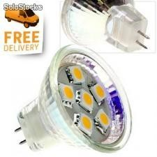 Mr11 smd led - 90 Lumen - 6 x 5050 smd Chips - 6 Watt Äquiv