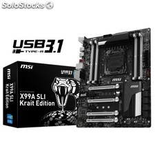 Msi Placa Base X99A sli krait e.USB3.1 atx LGA201