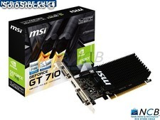 Msi Vga Nvd Gt710 1Gb Ddr3 Vga/Hdmi/Dvi Pcix16 Low Profile