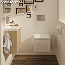 Mueble 2 cajones con lavabo de porcelana 60 cm Bath+ B-Box color roble