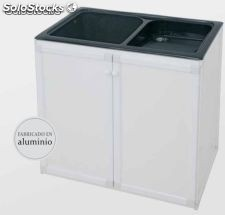 Mueble aluminio para lavadero vasco thor color blanco