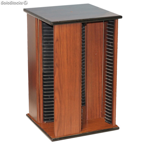 Mueble estanter a giratorio de madera para 116 cd s for Mueble giratorio