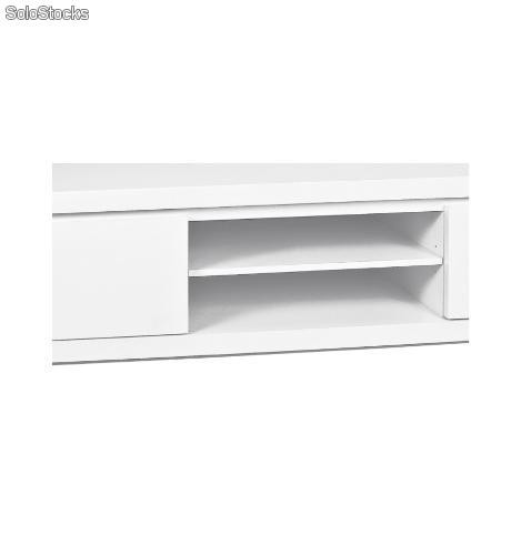 Mueble tv blanco lacado ref bz 0730968 for Mueble tv lacado blanco