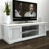 muebles tv en madera color blanco