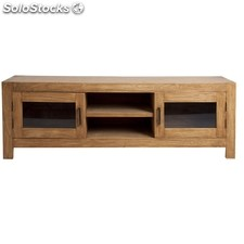 Mueble TV de madera de mindi color marron