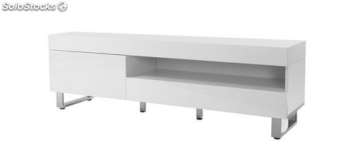 Mueble tv dise o lacado blanco melha for Mueble tv lacado blanco