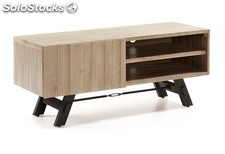 Mueble TV industrial acacia natural 120x50