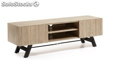Mueble TV industrial acacia natural 160x50