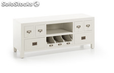 Mueble TV New White 125 x 40 x 50 cm