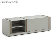 Mueble TV nordic gris mate roble 140 cm
