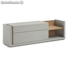 Mueble TV nordic gris mate roble 170 cm