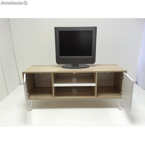 Mueble tv roble blanco