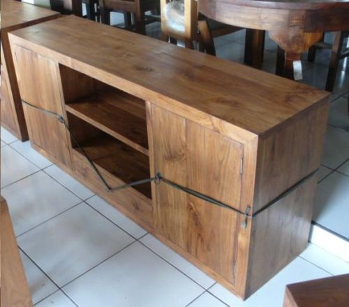 Muebles de madera teca idea creativa della casa e dell for Mueble tv barato