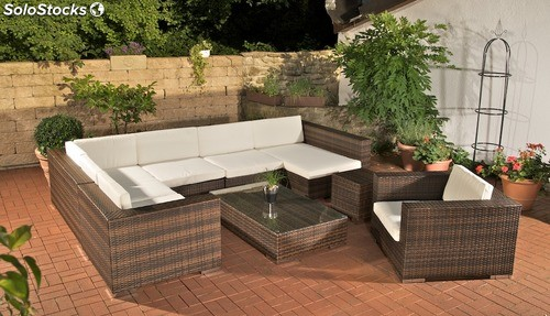 muebles de jardin barcelona marron moteado