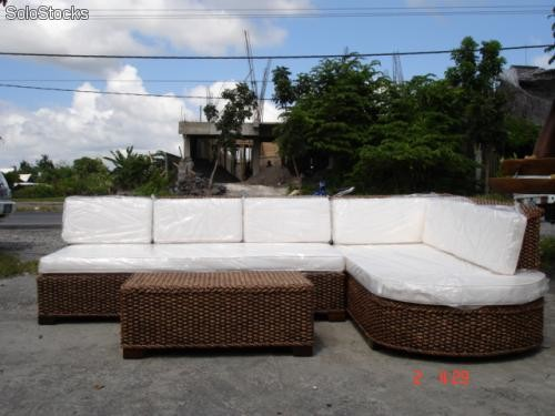 Muebles de rattan natural y sintetico para interior y for Muebles exterior rattan