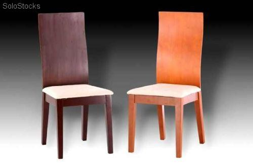 Muebles mesa extensible y sillas color cerezo for Muebles color cerezo