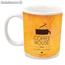 Mug coffee blanc sublimation