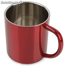 Mug metalica 300 ml roja