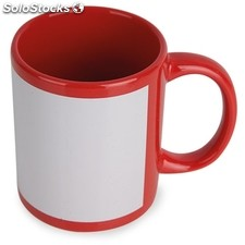 Mug sublimacion color rojo