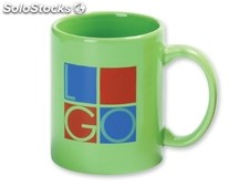Mug, Taza Ceramica, 310 Ml. Color 90 De Porcelana