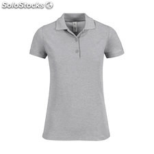 Mulher Camisa Polo 180 g/m BC0508-gy-2XL, Gray Heather